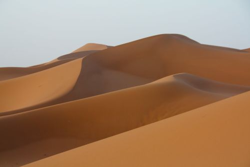 sand dunes at erg chigaga